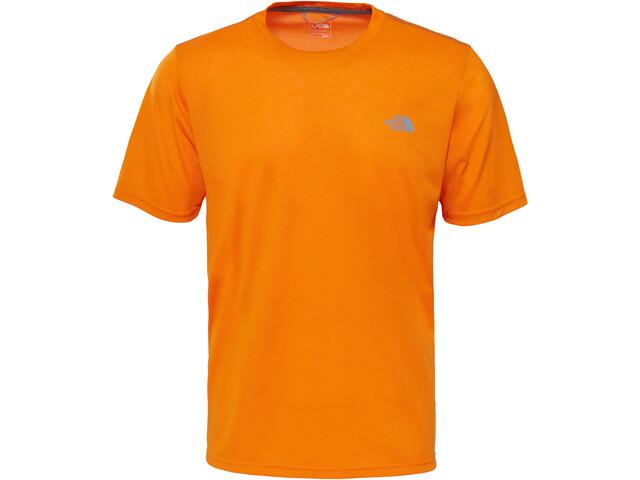 The North Face M's Reaxion Amp Crew Shirt Exuberance Orange Heather